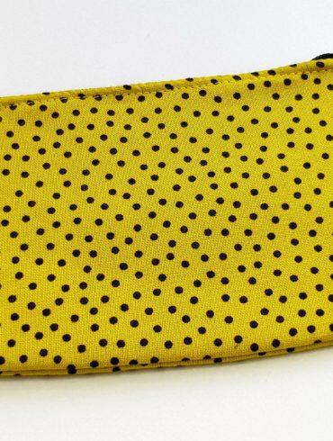 porte monnaie pois jaune